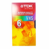 Video Cassette Vhs Tdk T-120 Calidad Superior 6 Horas Ep