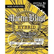 Cuerdas Híbridas 09 Guitarra Eléctrica Martin Blust Hyb 115