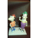 Adorno De Torta De Phineas Y Ferb En Porcelana Fria