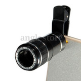 Universal 12 X Zoom Clip Teléfono Móvil Cámara Óptica Lente