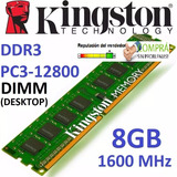 Memoria Kingston 8gb Ddr3 1600 Mhz Pc3-12800 100%nuevas