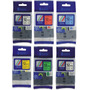 Pack 6 Cintas Color Tz Tze 231 Rotuladoras 12mm P-touch
