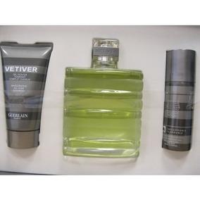 Perfume Vetiver Guerlain Set De Regalo Para Los Hombres 3,4