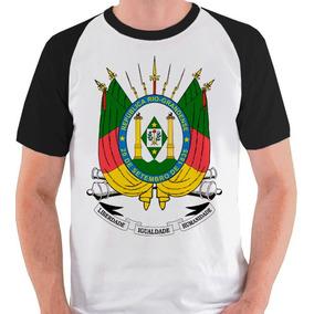 Camiseta Rio Grande Do Sul Brasão Gaúcho Camisa Blusa Raglan