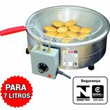 Fritadeira Tacho Fritura Inox Elétrico 7 Litros 220v 110v