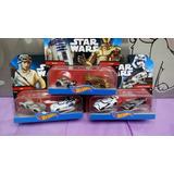 Hot Wheels Star Wars,rey, Stormtrooper, R2-d Mattel ! 6 Caro
