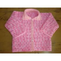 Camperita Tejida A Mano Al Crochet Para Nena De 1 Año