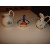 2 Jarras Y Una Canasta En Ceramica Muy Antiguas Envios