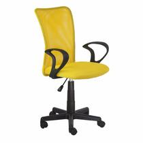 Cadeira Escritorio Lost Secretária Giratória Amarela + Nf