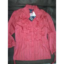 Blusa Marca Antilla Femme Talla S Color Naranja