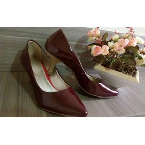 8b4258a5ae Scarpin De Verniz Vinho - Sapatos no Mercado Livre Brasil