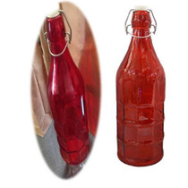 Nueva Botella De Vidrio De Color Ambar -regalitos Originales