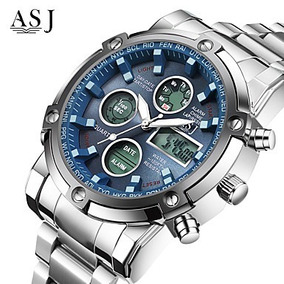 Relógio Masculino Esportivo Asj Movim. Quartzo Japonês Luxo