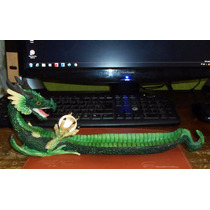 Figura De Dragon En Pasta Muy Real Y Colorido Para Incienso