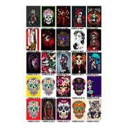 Kit 5 Placas Decorativas Catrina Caveira Mexicana Muertos