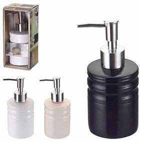 Saboneteira Porta Sabonete Liquido Porcelana Com Válvula