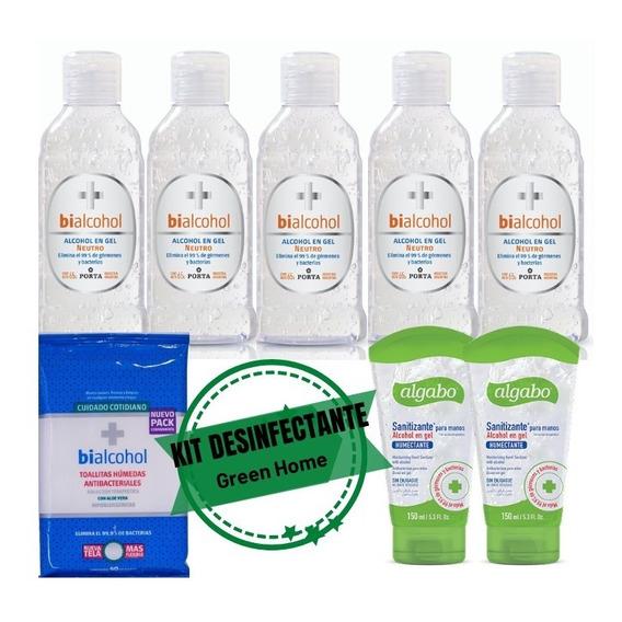 Combo Desinfectante Manos 8 Prod Antibacterial Toallitas Gel