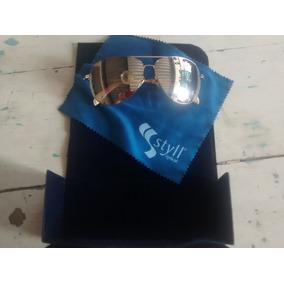 Óculos Colcci Hastes Em Couro Branco Espelhado Modelo Aviado