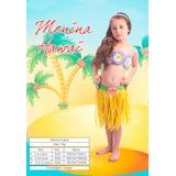 Fantasia Infantil Menina Hawai M De 6 A 8 Anos