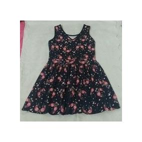 Vestido De Malha Infantil Estampado Com Flores