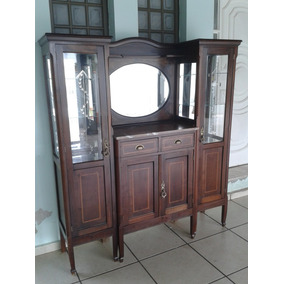 Cristaleira Antiga Marmore Portugues Original (only Wood)