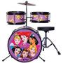 Bateria Infantil Disney Princesas Mosaico 3 Peças 14 Bid-p1