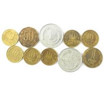 Lote 10 Moeda 1958 A 1997 Peso Chile Varios Valores M0722
