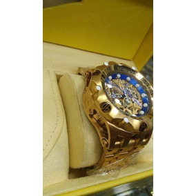 9c5d82f7ca4 Relógio Lsx4309 Invicta 16855 Hybrid Skeleton Dourado Azul