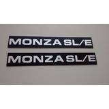 Emblema Plaqueta Do Friso Lateral P/ Monza Sl/e 88/90 - Novo