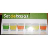Set De 6 Tazas Con Goma Anti-resbalante De Colores Culinary