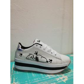 Tenis De Plataforma Snoopy Envio Gratis e1591bc05a9d9