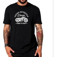 Camiseta Masculina Moto Custom Camisa Motociclista