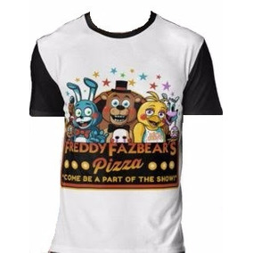 Fnaf - Polera Manga Corta Five Night At Freddys 8-10-12-14