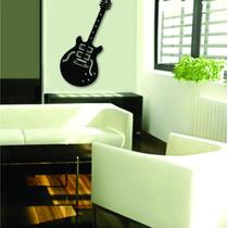 Quadro Em Mdf 3,0mm Vazado Guitarra