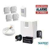 Kit Alarme Residencial Sulton Sem Fio Com 5 Sensores