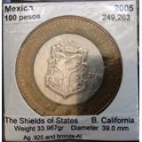 Moneda De 100 Pesos Los Escudos De Los Estados De La México
