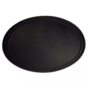 Bandeja De Mozo Antideslizante 45cm Plastico Negro Reforzada