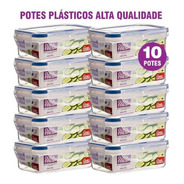 Kit 10 Potes Plásticos 100% Herméticos Qualidade Click Fresh
