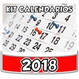 Kit Imprimible Calendarios 2018 Unicol Editable + 2x1