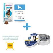 Kit 1 Bravecto 20 A 40 Kg + Coleira Antipulgas G + Brinde
