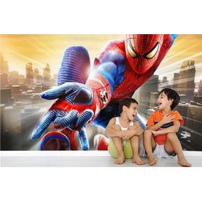 Adesivo Painel Papel Parede Infantil Homem Aranha Herois M11