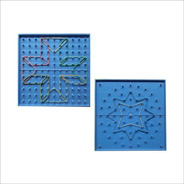 Ingeniacrea: Pack 2 Geoplano Doble Cara 17x17cm 121 Pin Mate