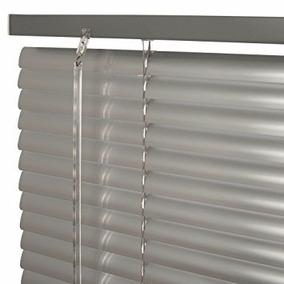 Cortina Veneciana Aluminio Gris Plata Entrega Inmediata!!