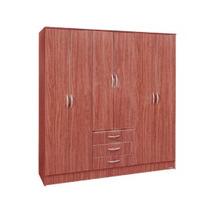 Placard Ropero 6 Puertas De Abrir Cajones Platinum 1006