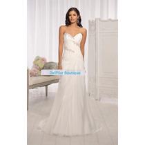 Vestido De Novia Nuevo Tallas 8 10 12 Delpilar Modelo Nr 02
