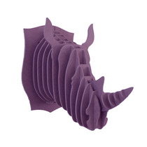 Rinoceronte Morado Cabeza Decorativa Animal Valchromat8mm