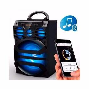 Caixa De Som Portatil Ms187bt Bluetooth Led Speaker
