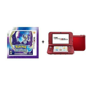 New 3ds Xl Vermelho + Pokémon Moon + Sd16gb + Case