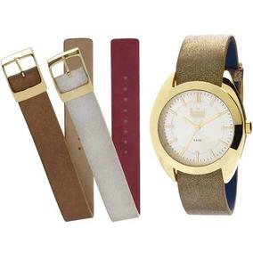 Relógio Feminino Dumont All Color Troca Pulseiras Du2036l...