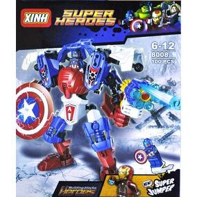 Blocos De Montar - Super Heroes Capitão América - 100 Peças